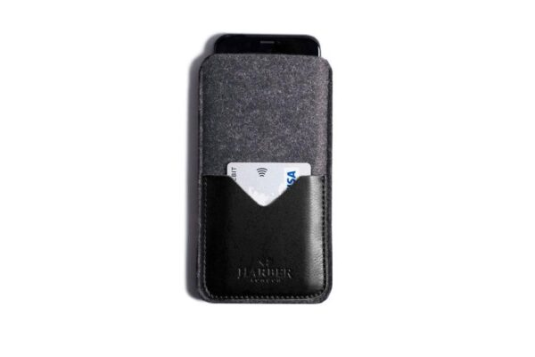 Classic Leather Smartphone Sleeve Wallet   Harber London