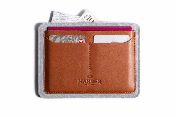 Flat Leather Passport Holder   Harber London