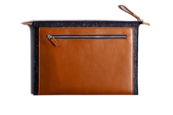 Folio Macbook Leather & Felt Sleeve | Harber London