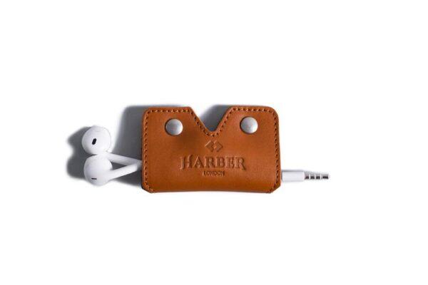 Leather Earphone Cord Wrap Case | Harber London