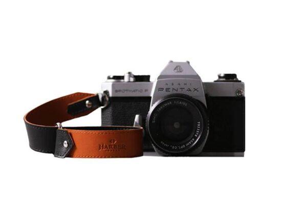 Leather Slide Camera Wrist Strap | Harber London