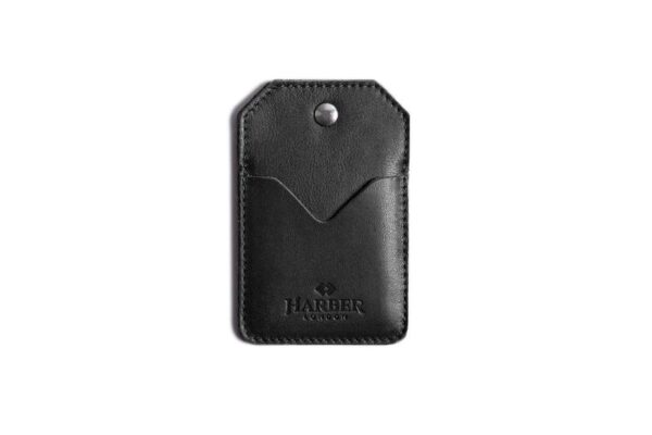Leather Snap Card Holder 2 pockets | Harber London
