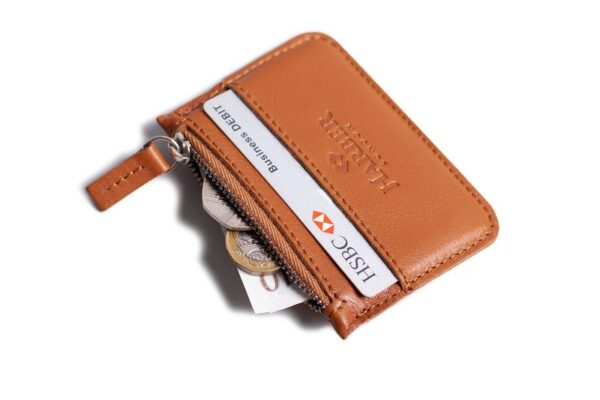 Leather Zip Coin Wallet   Harber London