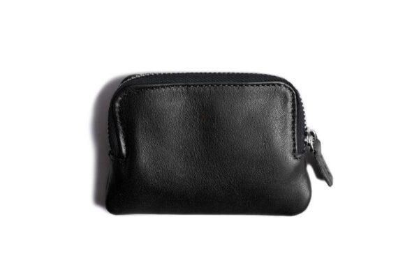 Leather Zip Pouch Wallet   Harber London