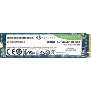 Seagate BarraCuda® 500 GB Interne M.2 SATA SSD 2280 PCIe 3.0 x4 Retail ZP500CM3A001