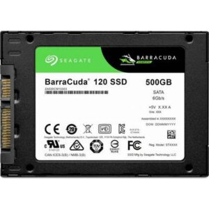 Seagate BarraCuda® 500 GB Interne SATA SSD 6.35 cm (2.5 Zoll) SAS 6 Gb/s Retail ZA500CM1A003