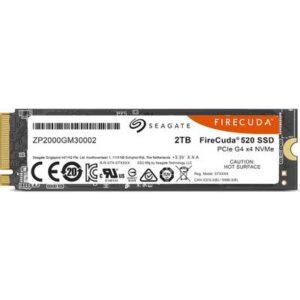 Seagate FireCuda® 2 TB Interne M.2 PCIe NVMe SSD 2280 M.2 NVMe PCIe 4.0 x4 Retail ZP2000GM3A002