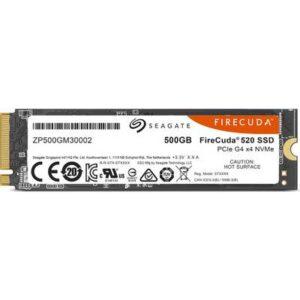 Seagate FireCuda® 500 GB Interne M.2 PCIe NVMe SSD 2280 M.2 NVMe PCIe 4.0 x4 Retail ZP500GM3A002