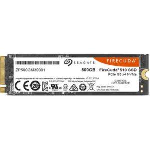 Seagate FireCuda 500 GB Interne M.2 SATA SSD 2280 PCIe 3.0 x4 Retail ZP500GM3A001
