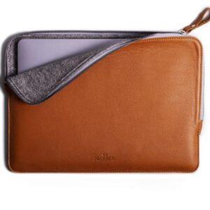 Slim Leather Folio Laptop Case No. 7 | Harber london