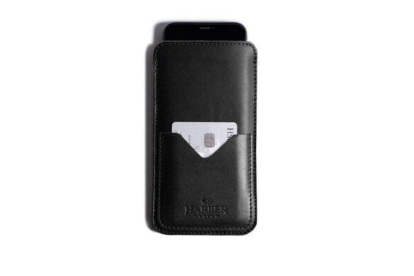 Slim Leather Smartphone Sleeve Case   Harber London