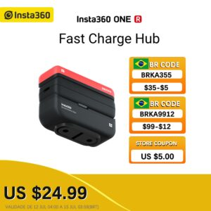 100% Original Insta360 ONER Battery Base/Boosted Battery Base/Fast Charge Hub Action 4K Camera Accessories for Outdoor Sport Cam