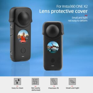 For insta360 one x2 case Lens Protective Cover Silicone Soft Cover Shell Dustproof Len Cover for insta 360 one x2 accessories