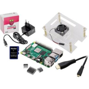 Renkforce Class-Room-Set 5x Raspberry Pi® 4 B 2 GB 4 x 1.5 GHz inkl. Gehäuse, inkl. Netzteil, inkl. HDMI™-Kabel, inkl.