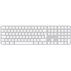 Apple Magic Keyboard mit Touch ID und Ziffernblock Bluetooth® Tastatur Weiß Wiederaufladbar