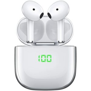 Bluetooth Headphones 5.0 with Wireless Charging Case,Contact Control Built-In Ear Earphones,for Android IPhone IPad