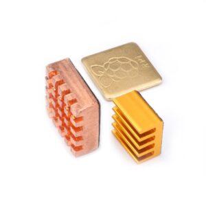 For Raspberry Pi 3 Model B Heatsink ( 2 Pieces Pure Copper + 1 Piece Aluminum Heat Sink ) Cooling for Raspberri Pi Pie 2