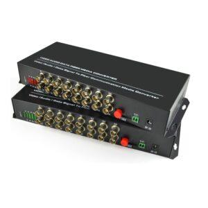 16 Channels Digital Video Optical Fiber Media Converters Transmitter/Receiver For CCTV Analog Cameras