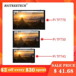 BIGTREETECH BTT PITFT50 V2.0 TFT43 TFT70 Capacitive Touch Screen Panel 5/4.3/7 Inch DSI Raspberry Pi LCD 3D Printer Parts