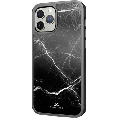 Black Rock Protective Marble Case Cover Apple iPhone 13 Pro Max Schwarz