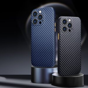 R-just Half-wrapped Carbon Fiber Phone Case For Iphone 13 12 11 Pro Xs Max Ultra-thin Pure Cover For Iphone X Se 7 8 Plus Case