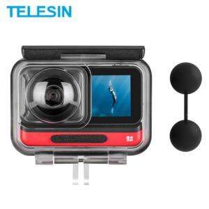 TELESIN 45M Underwater Housing Case Waterproof Case Lens Cover Protector for Insta360 ONE R 360 Edition Camera Accessories