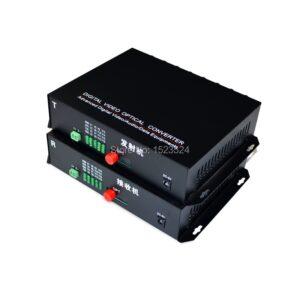1 Pair 2 Pieces/lot 16 Channel Video Optical Converter 16V1D Fiber Optic Video Optical Transmitter & Receiver 16CH +RS485 Data