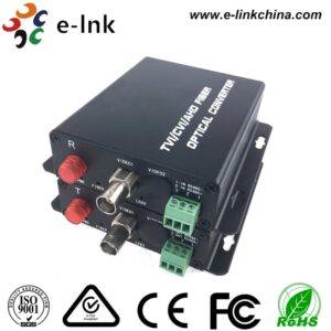 1Ch 720P TVI video to fiber converter with transmitter and receiver with Rs485 data
