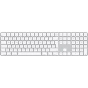 Apple Magic Keyboard mit Touch ID und Ziffernblock CH-Layout Kabellos Tastatur Weiß, Silber Fingerabdruckleser