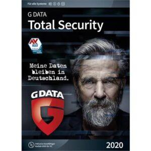 G-Data Total Security 2020 Vollversion, 3 Lizenzen Windows, Mac, Android, iOS Antivirus, Sicherheits-Software