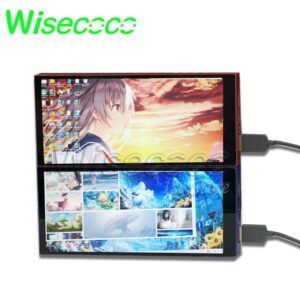Wisecoco Portable Monitor 6 Inch 2k QHD For Raspberry Pi 3B 4B Display CNC Build-in Battery 2560x1440 Backlight Adjustable