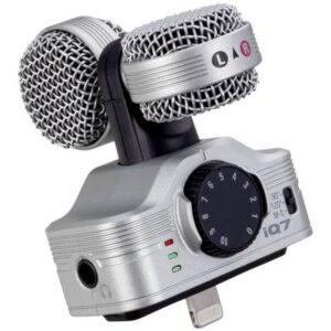 Zoom iQ7 Mobiler Audio-Recorder Silber